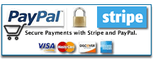 Paypal and Stripe Verified Site - Secure Payments