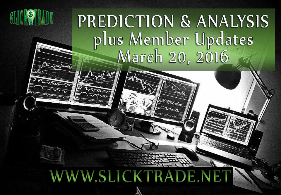 Prediction & Analysis Forex Trading March 20 2016