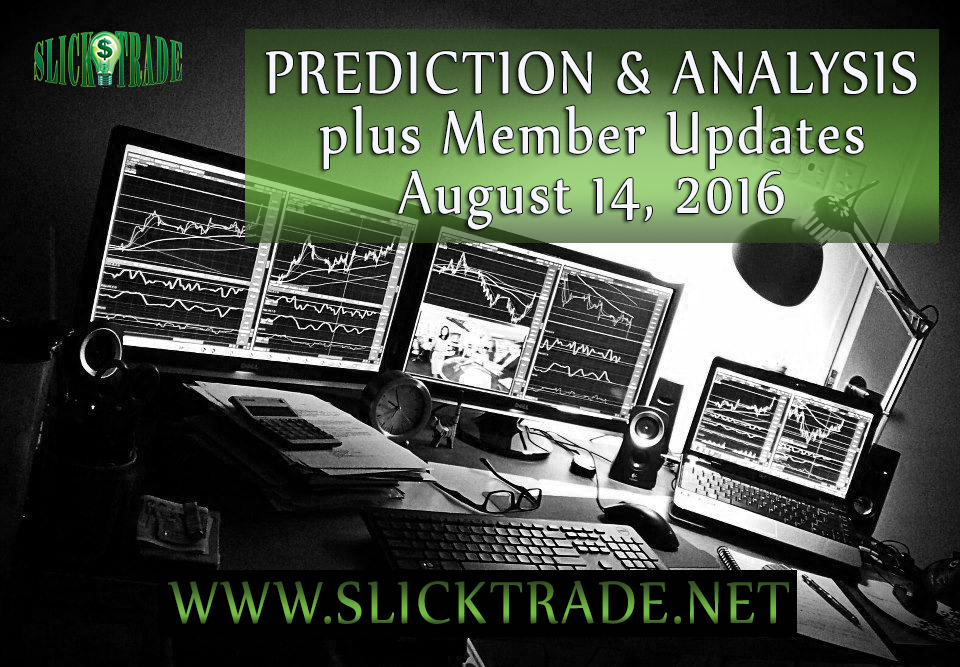 Prediction & Analysis Forex Trading August 14 2016